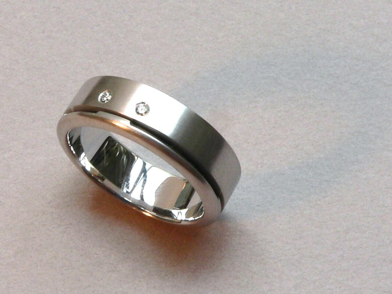 Wedding Ring 18ct White Gold